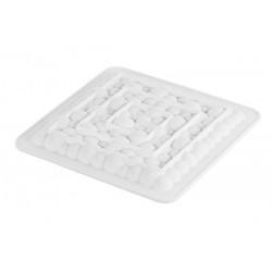 square, perforated, bubble, silicone, pie