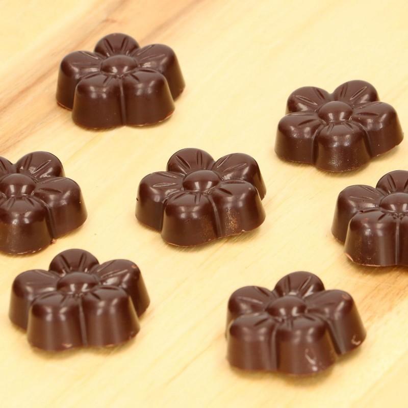 moule, chocolat, fleur