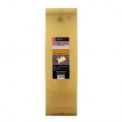 Cardboard, gold, log