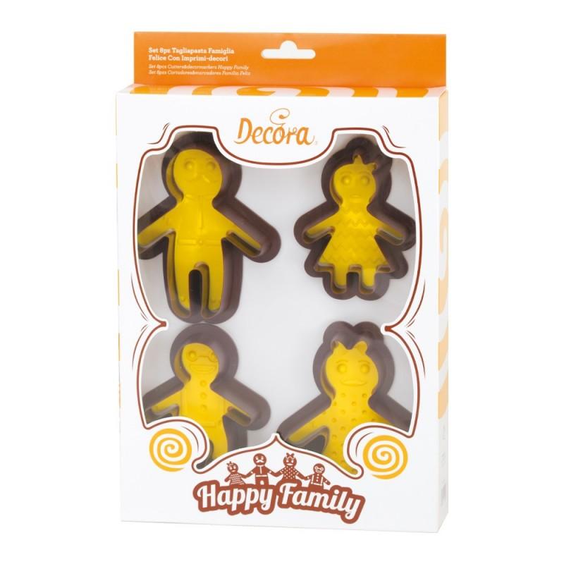Ausstecher, happy family, Familie, Kekse