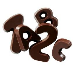 Chocolate Decorations Alphabet -Dark- 60g