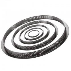 cercles perforés Silikomart, tarte