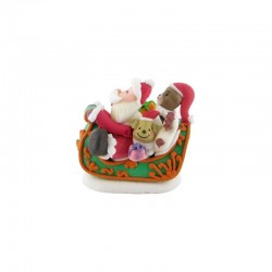 decor, edible, sleigh, Santa Claus, Christmas, decoration