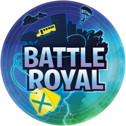 plates, birthday, decoration, fortnite, battle royal