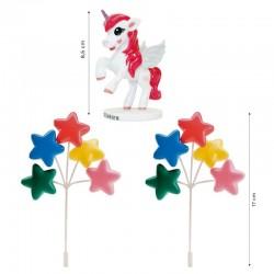 kit, decoration, cake, birthday, unicorn
