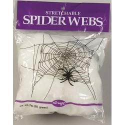 Toile d'araignée extensible blanche