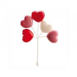 lot ballons, coeurs, décoration, plastique