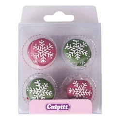 Sugar Decorations Xmas Snowflakes pk/12