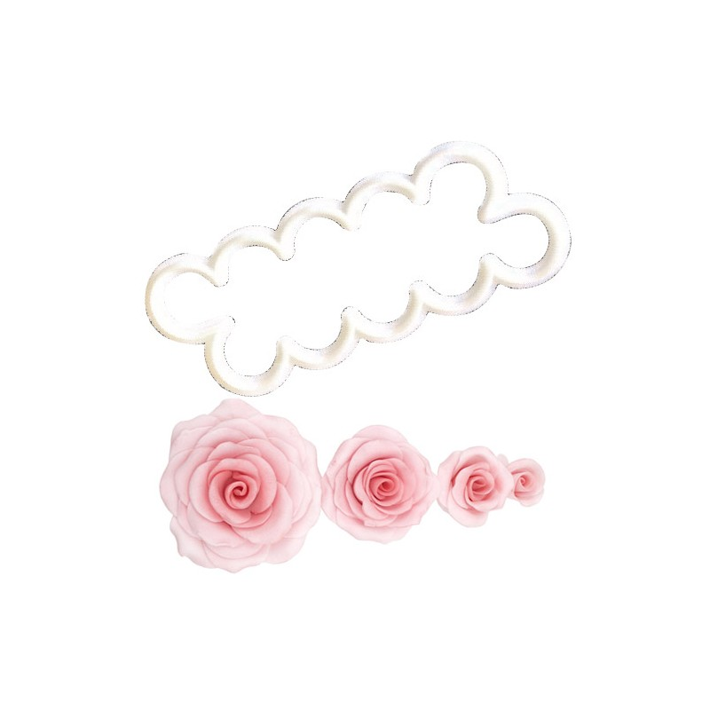 Emporte pièce - La rose la plus simple à créer