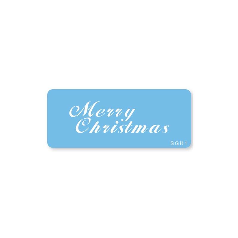 "Pochoir ""Merry Christmas"""