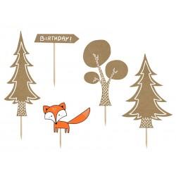 Toppers Le monde de la forêt en papier kraft