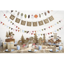 Toppers Woodland in kraft paper