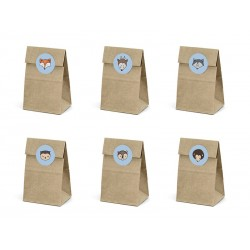Treat bags Woodland in kraft paper