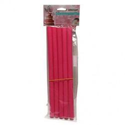 Goujons en plastique rose 30cm - 5pcs