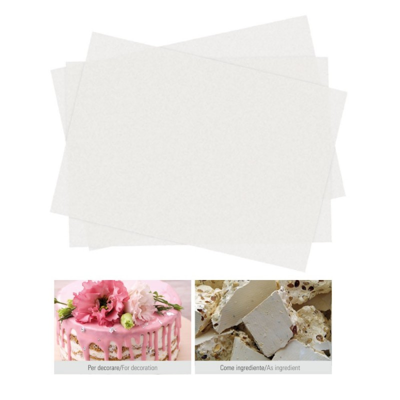 Double edible wafer paper sheets