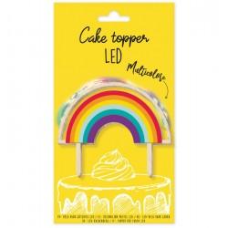 """Cake Topper led """"Arc-en-Ciel"""" en bois"""