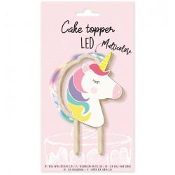 """Cake Topper led """"Licorne"""" en bois"""