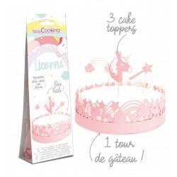 """Déco de gâteau """"Licorne"""" en papier"""