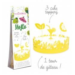 """Cake Decoration """"Mojito"""" in paper"""