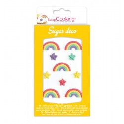 "Sugar decos ""Rainbow ans stars"""