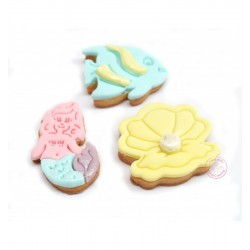 """Cookie cutters """"Mermaid"""" with plunger"""