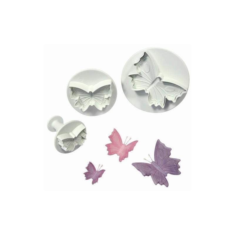 """""""Papillons avec reliefs"""" Set/3"""