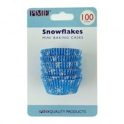"""Mini Caissettes """"Flocons de neige"""" Pk/100"""
