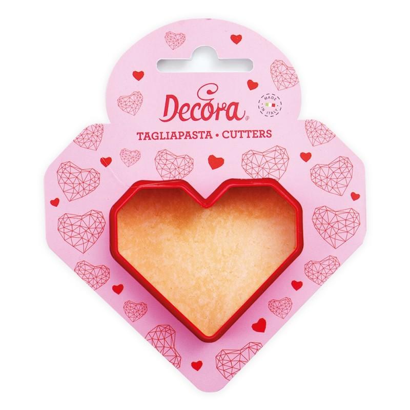 "Cookie cutter ""Geometrical heart"" in plastic"
