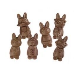 """Moule """"Drôles de lapins"""" en silicone"""
