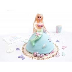 "3D-Form ""Prinzessin/Merjungfrau"""