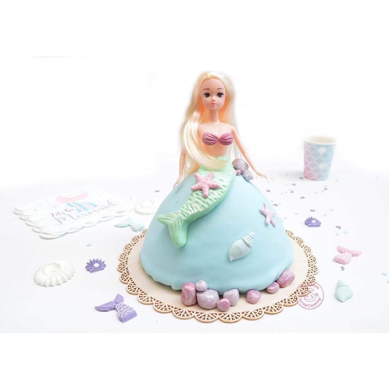 "3D mold ""princess/mermaid"""