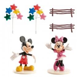 """Kit de déco de gâteau """"Mickey et Minnie"""" en PVC"""