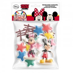 "Cake deco kit ""Mickey and Minnie"" in PVC"