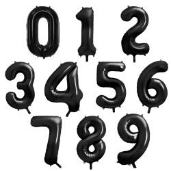 "Large foil balloons ""Numbers"""