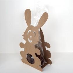 5 bunnies in kraft color + plastic bags