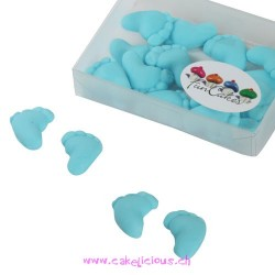 "Décorations en pâte à sucre ""Baby Feet"" Blue 16 pc"