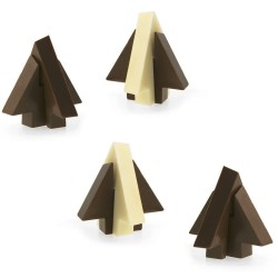 Sapin chocolat en 3D, moule chocolat forme de sapin, petit moule sapins