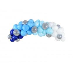 """Girlande von Luftballons """"Blau"""""""