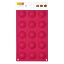 15 Demi sphères 4cm - Moule en silicone
