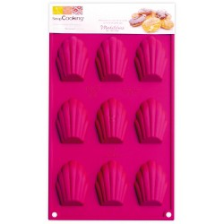 9 madeleines 4x6cm - Moule en silicone