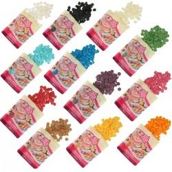 Toutes les couleurs de chocolat de décoration