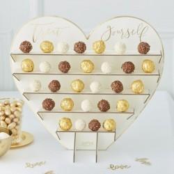 """Présentoir coeur """"Treat Yourself"""" pour chocolat en carton"""