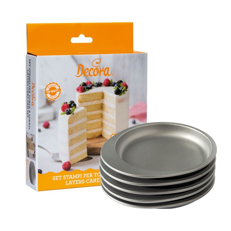 Set of 5 Ø15cm molds in non-stick material