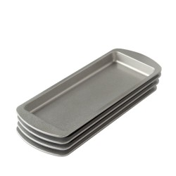 Set of 4 rectangular molds in non-stick material