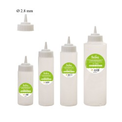 Icing Bottles with Ø 2.8 mm-tip in plastic