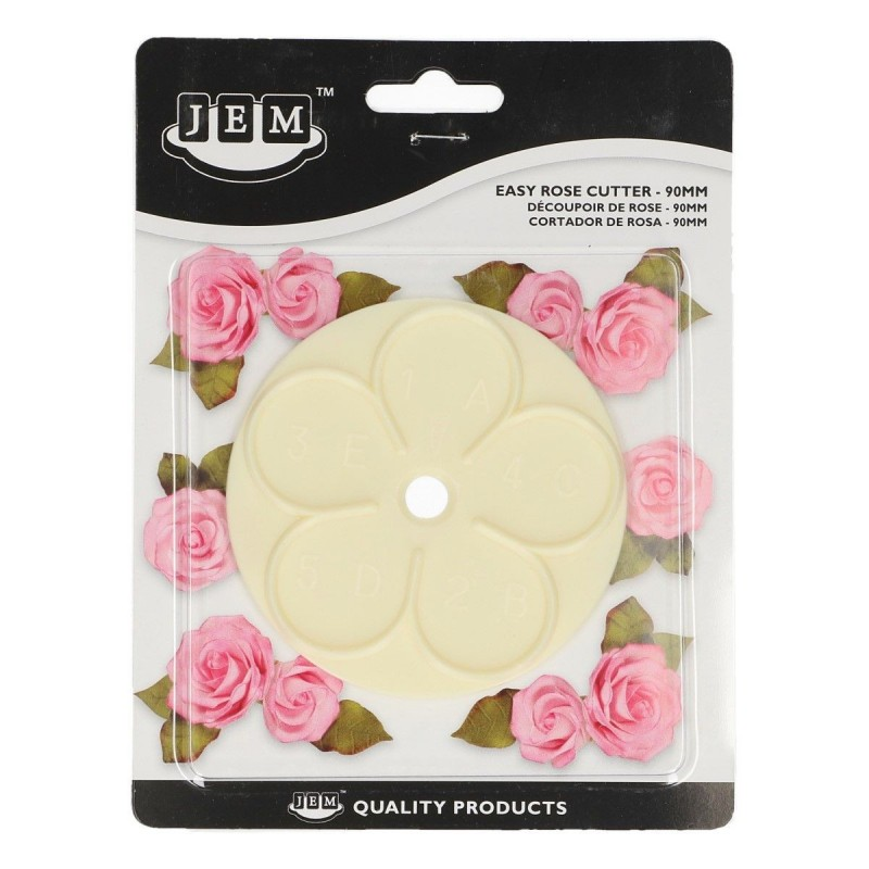 """Cutter """"Easy Rose 90mm"""" in plastic"""