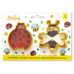 "Cookie Cutters ""Ladybug and Bee"" in plastic"