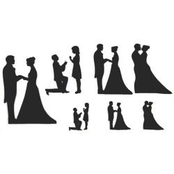 Wedding Silhouette Set