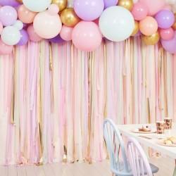 """Arche de ballons et serpentins """"Pastel"""""""