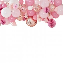 "Garland of balloons and accessories ""pink and white"""